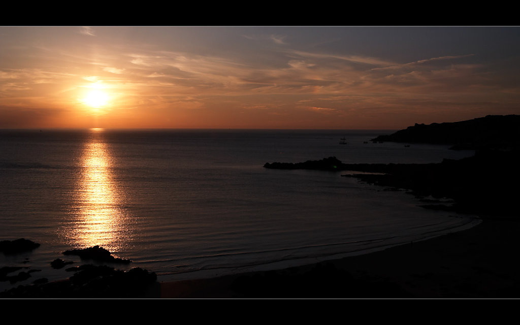 Sonnenuntergang in Erquy