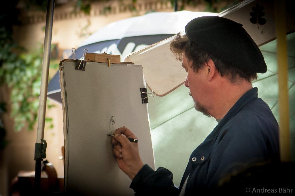 Paris - Künstler auf dem Place du tertre am Montmartre